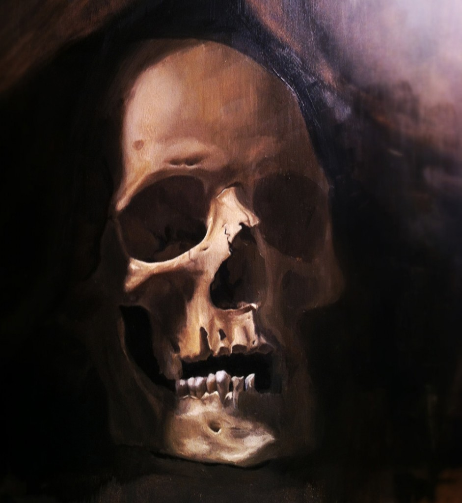 Skull painting
