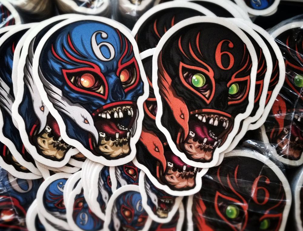 luchador_skull_stickers